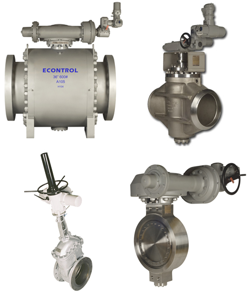 Econtrol control on off valves instrumentation for Motor operated butterfly valve